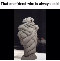 Sculpture - That one friend who is always cold