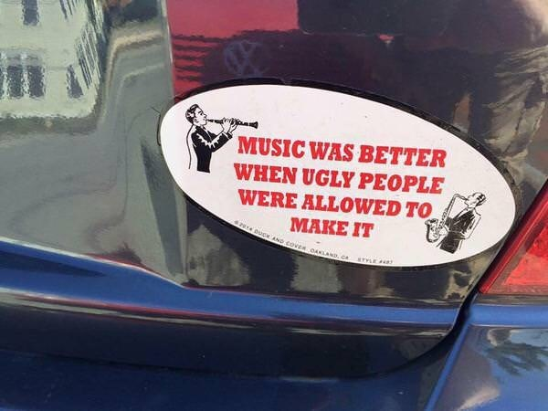 Vehicle - MUSIC WAS BETTER WHEN UGLY PEOPLE WERE ALLOWED TO MAKE IT 2 0UC AND COVER DANLAND, c