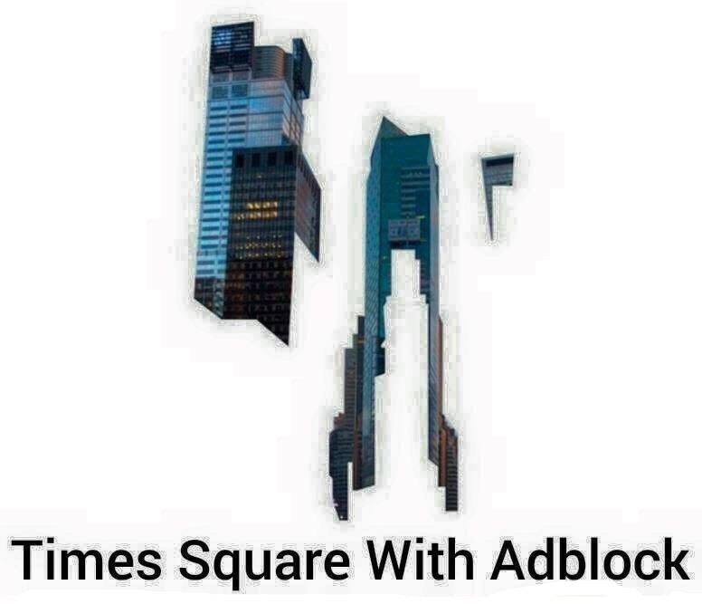 Technology - Times Square With Adblock