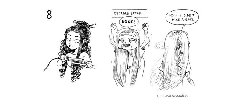 Cartoon - 8 DECADES LATER.. HOPE DIDN'T MiSS A SPOT DONE! C CASSANDRA