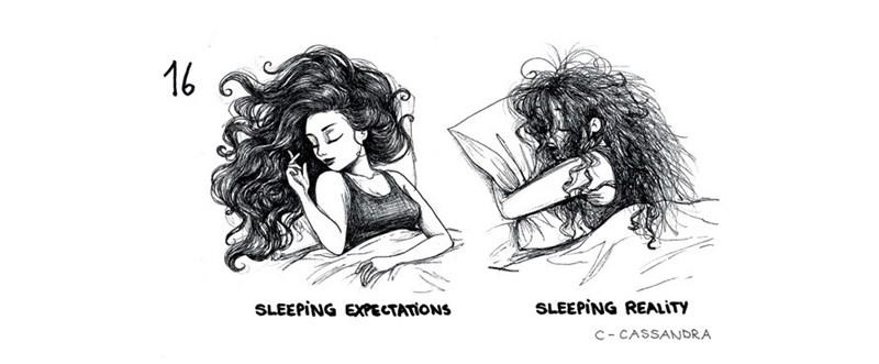 Cartoon - 16 SLEEPING REALITY SLEEPING EXPECTATIONS C CASSANDRA