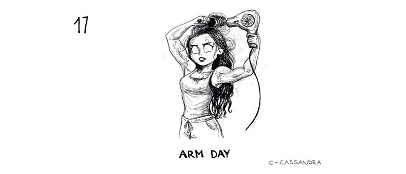 Drawing - 17 ARM DAY C- CASSANDRA