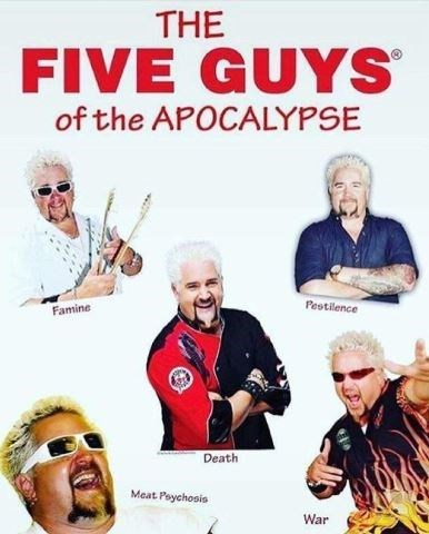 Movie - THE FIVE GUYS of the APOCALYPSE Pestilence Famine Death Meat Poychosis War