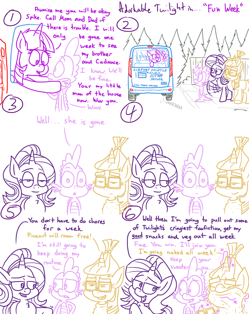 spike moon dancer starlight glimmer twilight sparkle comic adorkable twilight and friends - 9262000384