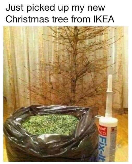 meme - Organism - Just picked up my new Christmas tree from IKEA SCO Fix-It