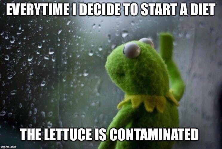 Organism - EVERYTIME I DECIDE TO START A DIET THE LETTUCE ISCONTAMINATED imgflip.com