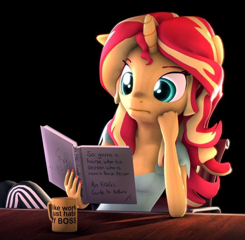 equestria girls i'm a future guitar hero tj pones sunset shimmer anthropomorphic sfm - 9262501120