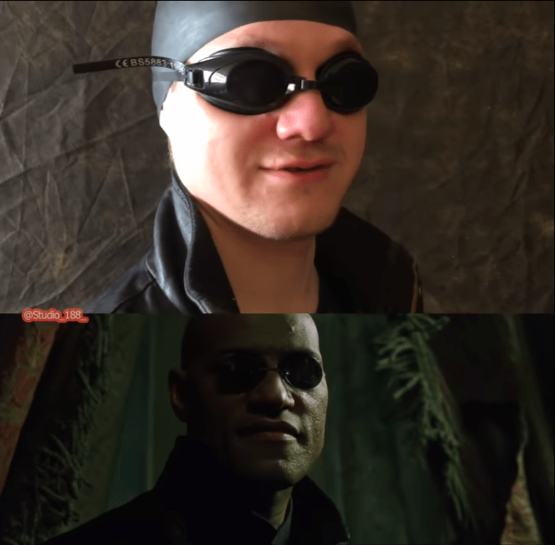 hilarious low cost version of the matrix gifs