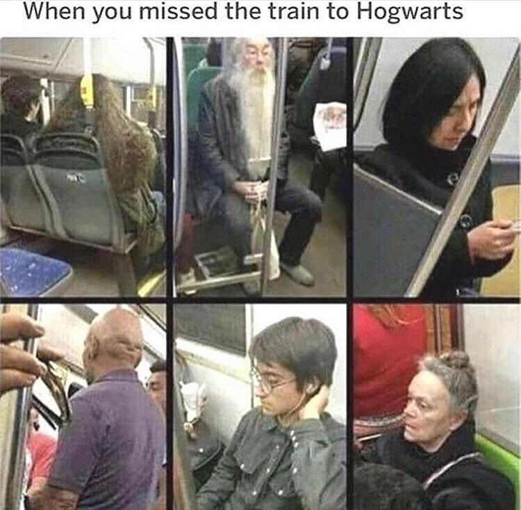 Selfie - When you missed the train to Hogwarts