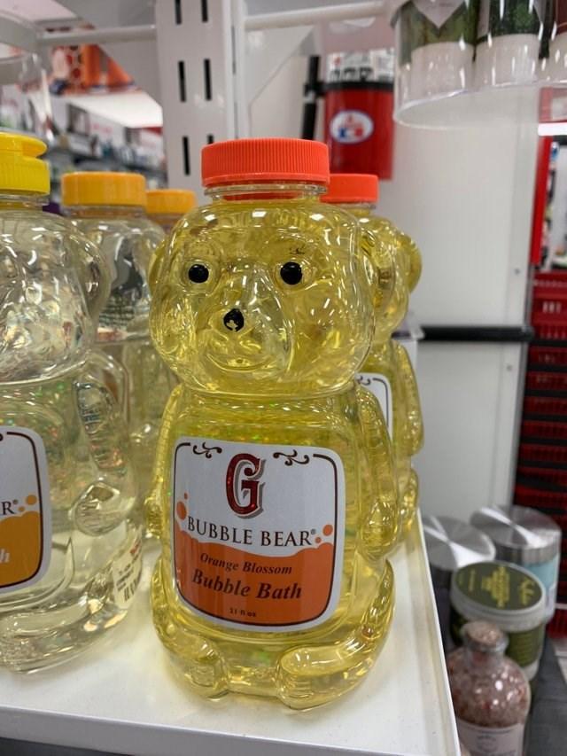 Teddy bear - 11 R BUBBLE BEAR Orange Blossonm Bubble Bath 21 n o