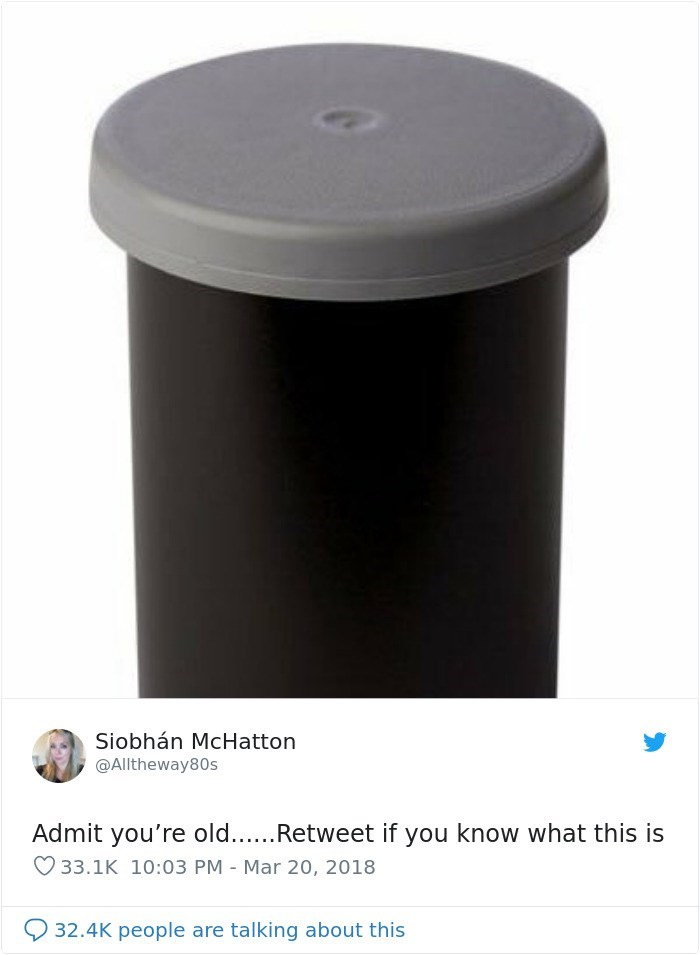 Product - Siobhán McHatton @Alltheway80s Admit you're old...Retweet if you know what this is 33.1K 10:03 PM Mar 20, 2018 32.4K people are talking about this