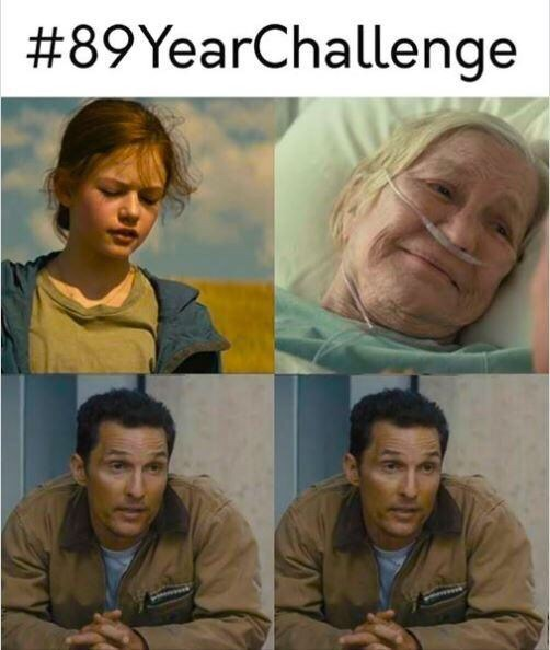 Facial expression - #89YearChallenge