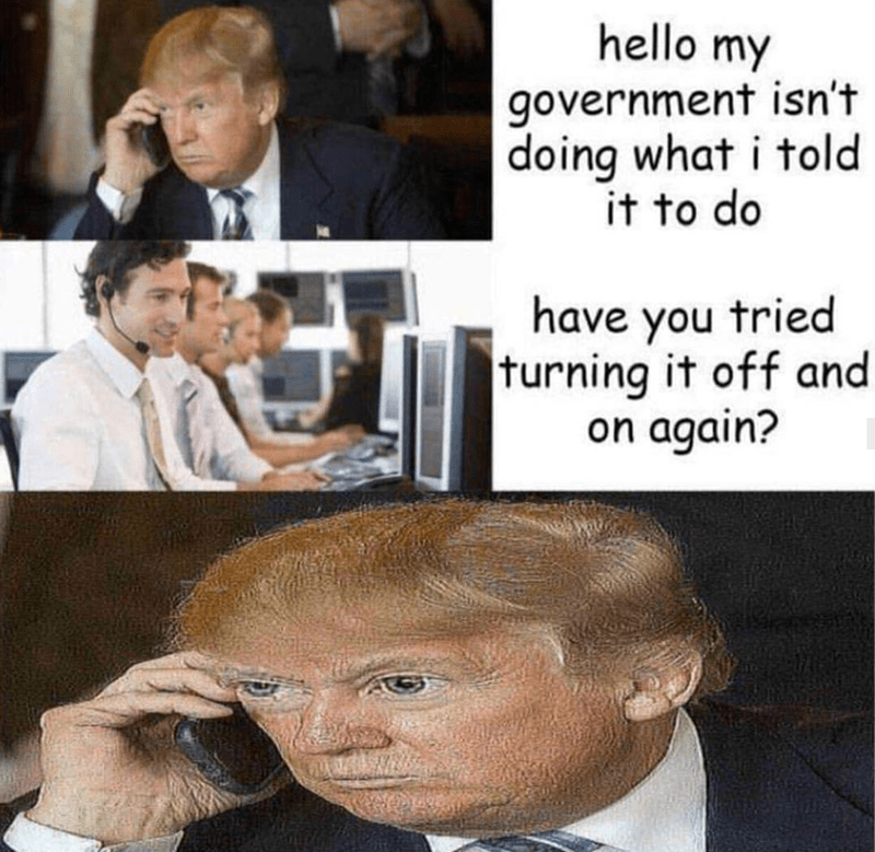 Hairstyle - hello my government isn't doing what i told it to do have you tried turning it off and on again?