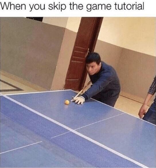 Floor - When you skip the game tutorial