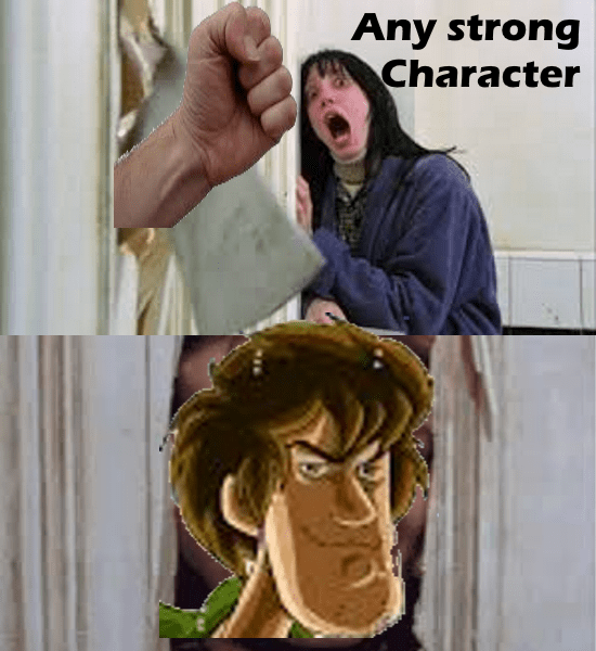 meme shaggy - Hand - Any strong Character