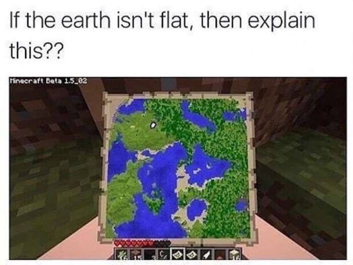 Vegetation - If the earth isn't flat, then explain this?? inecraft Beta 15.02