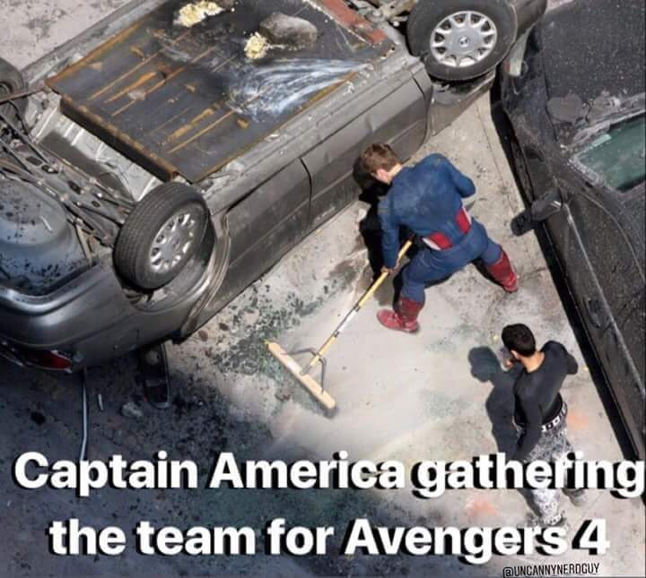 Motor vehicle - Captain America gatheting the team for Avengers 4 UNCANNYNERDCUY