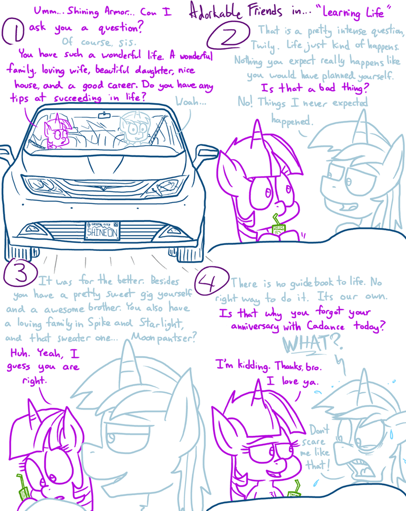 twilight sparkle shining armor comic adorkable twilight and friends - 9263845888