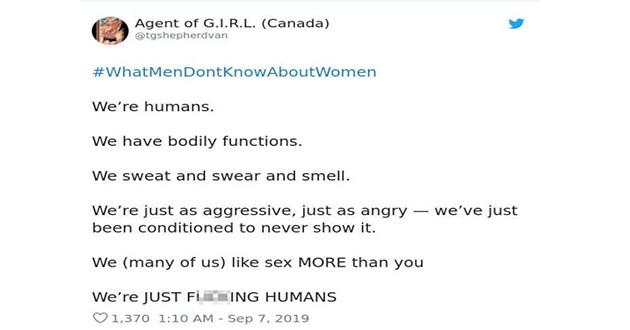 women tweets relatable men