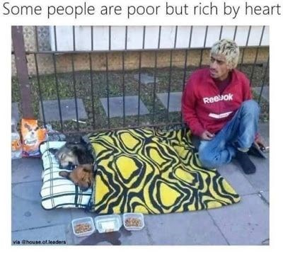 wholesome meme - Play - Some people are poor but rich by heart Reebok via Shouse.of.leaders