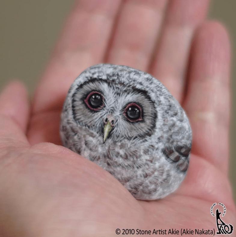 Owl - O 2010 Stone Artist Akie (Akie Nakata)