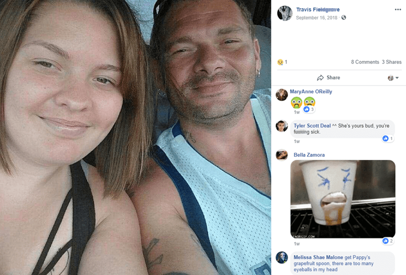 Face - Travis Fielelgmave September 16, 2018 8 Comments 3 Shares 61 Share MaryAnne OReilly 1w Tyler Scott Deal ^ She's yours bud, you're funiting sick 1w Bella Zamora ENORGIF.COM 1w Melissa Shae Malone get Pappy's grapefruit spoon, there are too many eyeballs in my head