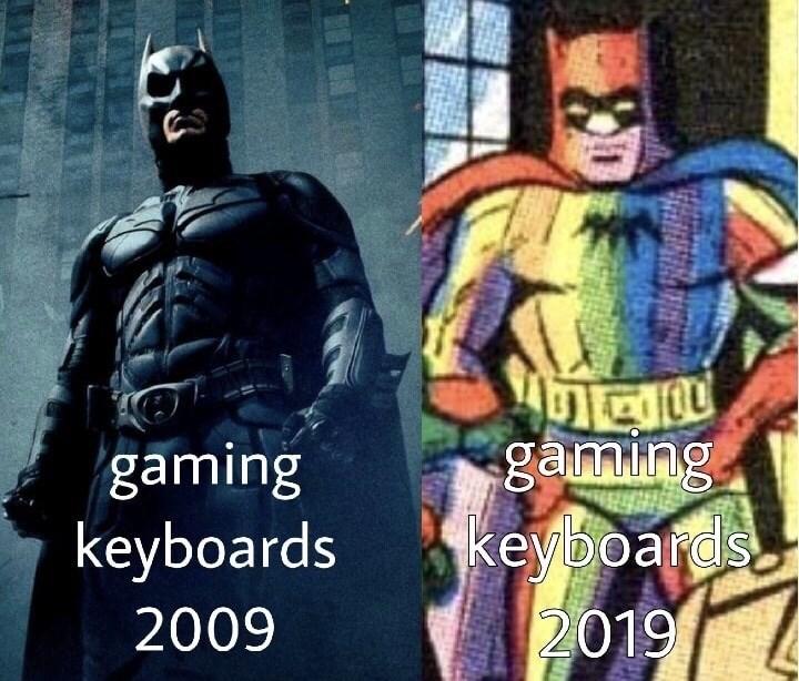 Batman - ganning keyboards 2019 gaming keyboards 2009