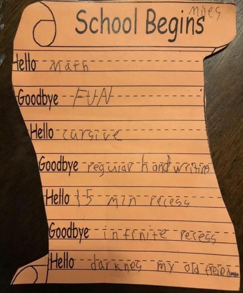 Text - ieg School Beginis Hello-MAFR Goodbye-F Hello-car Goodbye regtaar handwa Helo 7PEe Goodbye-innierexz Helo-arno Y e