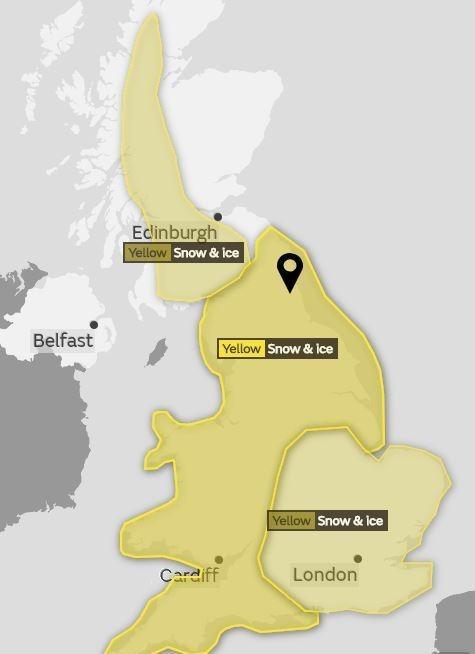 Map - Edlinburgh Yellow Snow &lce Belfast Yellow Snow & Ice Yellow Snow& lce Cardiff London