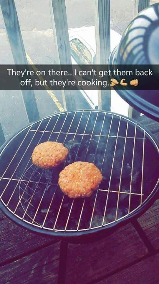Food - They're on there.. I can't get them back off, but they're cooking.
