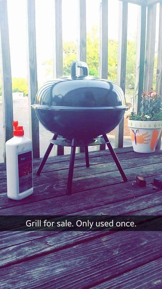 Barbecue - tue Grill for sale. Only used once.