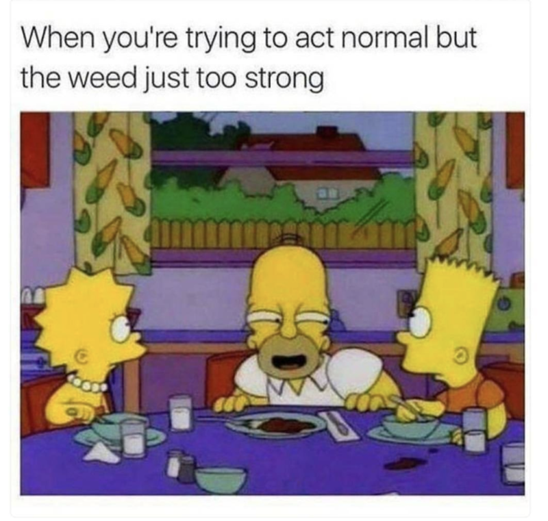 Text - When you're trying to act normal but the weed just too strong