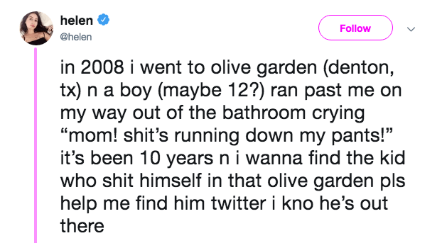 Woman Uses Twitter To Hunt Down Boy Who Had A Messy Accident In