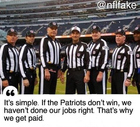 Team - @nflfake It's simple. If the Patriots don't win, we haven't done our jobs right. That's why we get paid