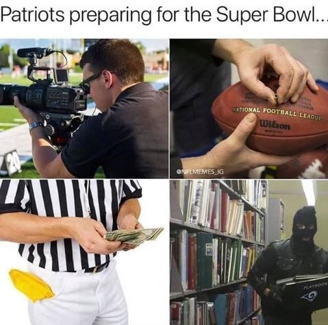 Arm - Patriots preparing for the Super Bowl.. TIONAL FOOTBALL LEAGUT Wilson eNFLMEMES IG