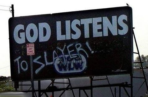 Advertising - GOD LISTENS To SLAYERL ANT TIME WLW AA