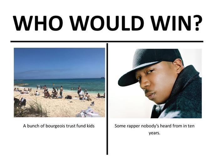Fyre Festival Meme making fun of Ja Rule being irrelevant for 10 years