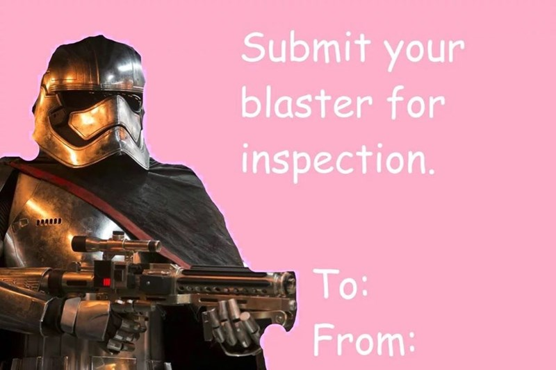 Gun - Submit your blaster for inspection. To: From: