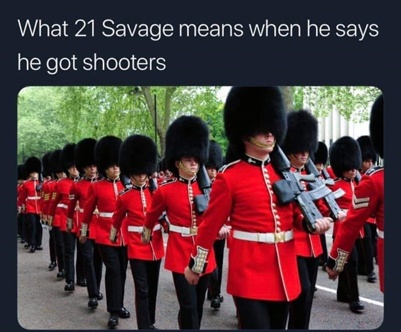 british savage 21 - Bearskin - What 21 Savage means when he says he got shooters