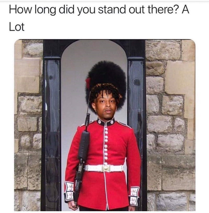 Uniform - How long did you stand out there? A Lot