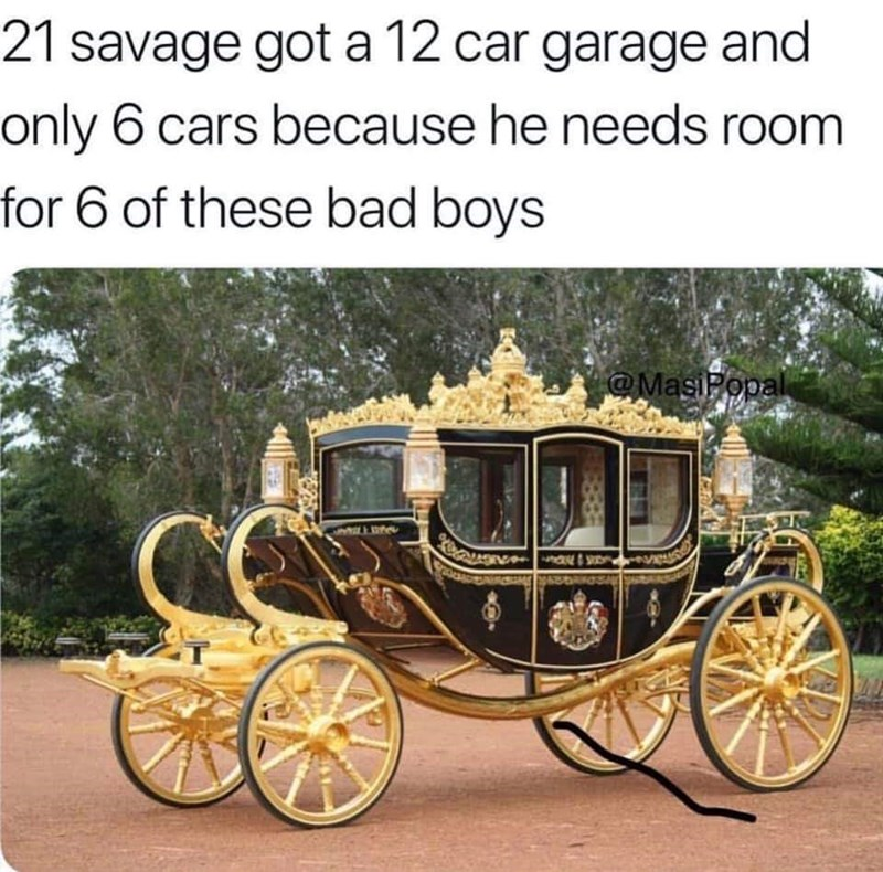 Land vehicle - 21 savage got a 12 car garage and only 6 cars because he needs room for 6 of these bad boys @MasiPopal