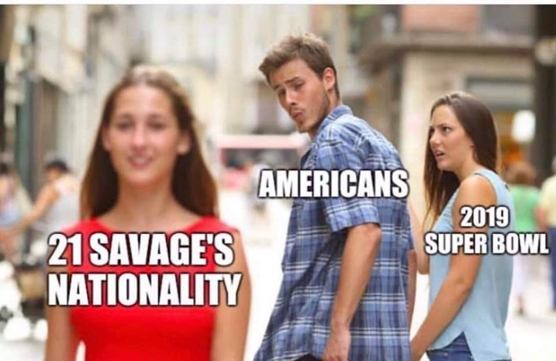 People - AMERICANS 2019 SUPER BOWL 21 SAVAGE'S NATIONALITY
