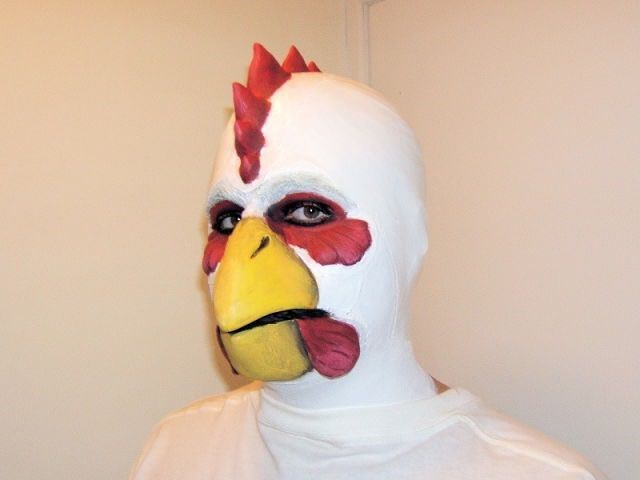 cursed_image - rooster face on human