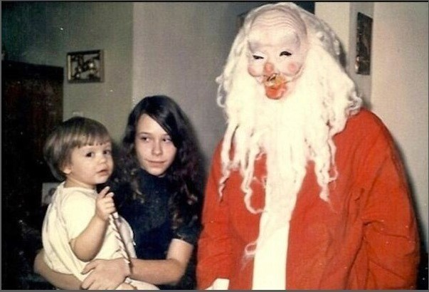 cursed_image - People creepy costume family photo