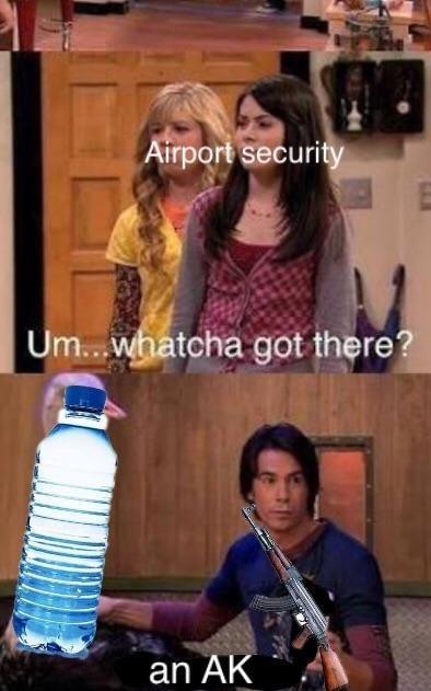 tsa meme - Airport security   Um...whatcha got there? an AK