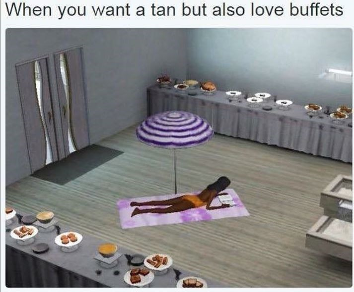 Room - When you want a tan but also love buffets