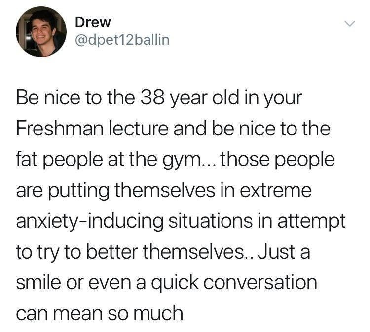 wholesome meme about conversing with that person who seems out of place in various places