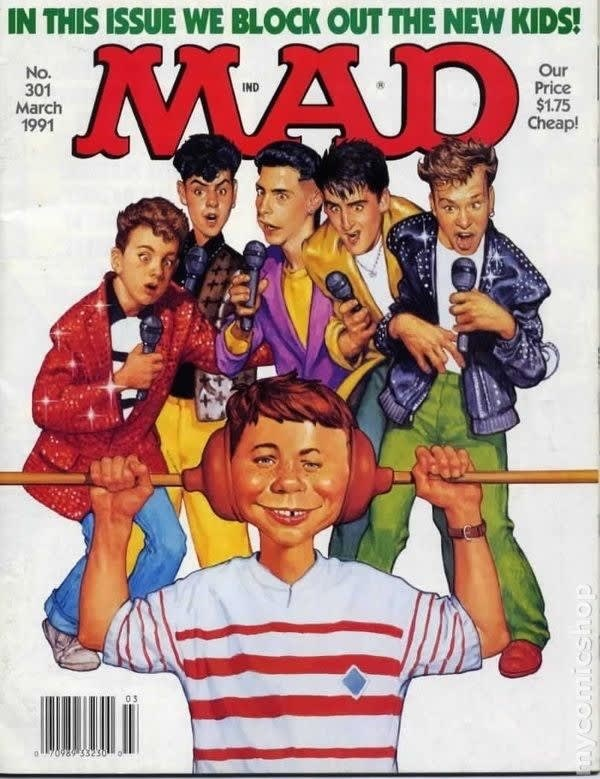 Poster - IN THIS ISSUE WE BLOCK OUT THE NEW KIDS! MAD Our Price $1.75 Cheap! No. 301 March 1991 IND O70989 53230 dousoiO