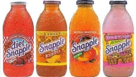 Drink - RASPRE S EMON MANGO MADNES diet SnappleShapple Snapple Snapple Pink lemonade ICED TEA