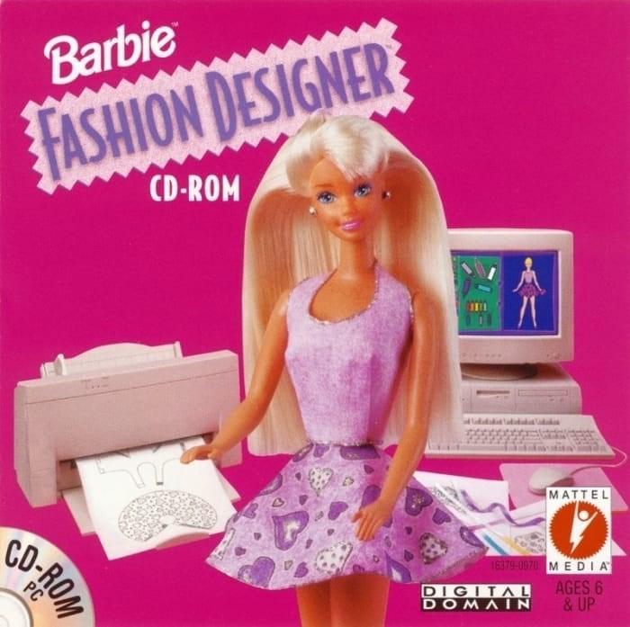 Toy - Barbie FASHION DESIGNER CD-ROM MATTEL 16379-0970 MEDIA DIGITAL DOMAIN AGES 6 & UP CD-ROM